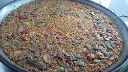 Nuestro arroz de magro y verdura