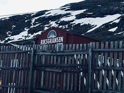 Riksgransen Station snow fence