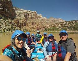 Paddle raft in Split Mountain Gorge