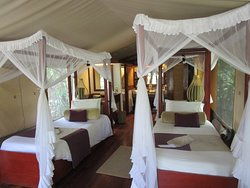 Inside tent at Mara Intrepids.Well lit, great location, and comfortable.