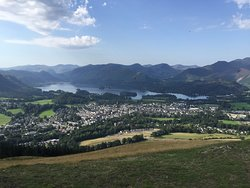 The view over Keswick and Derwent Water with the breathtaking fells in the background.
