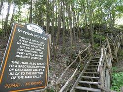 steep path to Bridal Veil Falls