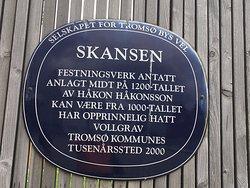 Skansen fence sign closeup