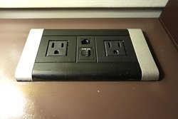 The Oliver Hotel, 407 Union Ave, Knoxville, TN - Suite 202 - AC Outlets on Desk