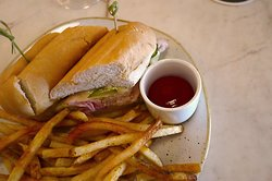 The Oliver Royale Restaurant in The Oliver Hotel, 407 Union Ave, Knoxville, TN - Great Cubano Sandwich