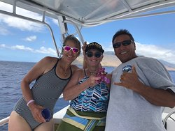 Here we are in between dives with Captain Don.