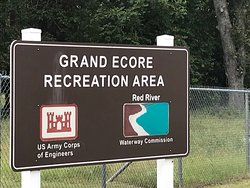 Sign going into the river park area