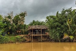 Local house along the river