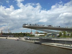 Viewing platform over the Moscow River at Zaryadye Park