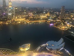 View  from the top of Marina Bay Sands Ce La Vi