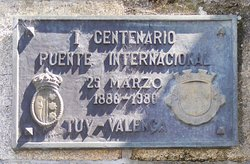 Ponte Internacional Tui-Valenca, minnesmärke