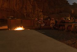 Some Bedouin music performed by the fire