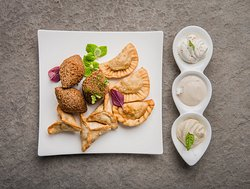 Hot Mezze. Traditional Arabic selection of small dishes served as appetizers.