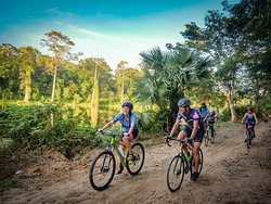 Riding off the beaten track in the surrounding jungle of the ancient temples.
