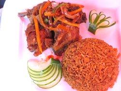 Spicy Jollof Rice & Chicken