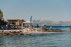 Beach bar Haven on island Drvenik Veli. Providenca charter