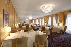 The interior of the Vila Bled Restaurant with sophisticated decor