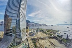 Corner room has Hong Kong city and harbour view
