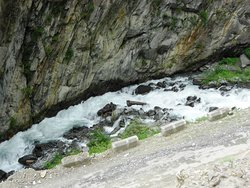 View of river flowing at Hadsar