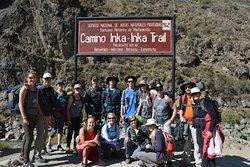 Trail head for the Inca Trail