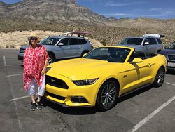Nicole with the Mustang