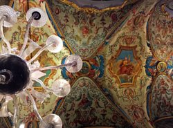 Beautiful ceiling fresco of Galeria Doria Pamphilj enjoyed during our last visit to the city