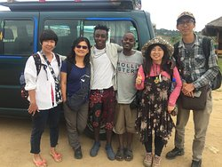 At jinka airport after amazing five days tour with my Tawain's clients