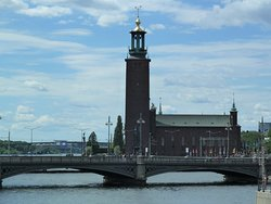 Stockholms Ström och Stadshuset i Stockholm