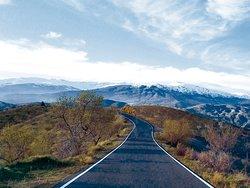Vista de la ruta hacia Bodegas La Divisa