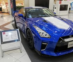 Nissan GTR was on display.  About 120,000 us dollars
