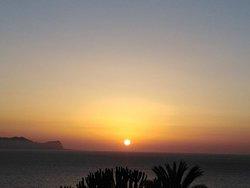 tramonto da  terrasini città del mare