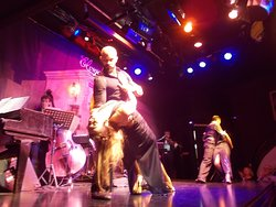 A tango pair on each end of the stage (during the hour-and-a-half show from about 10 10 pm to 11 40 pm)