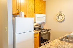 All suites have a complete kitchen with full size appliances.