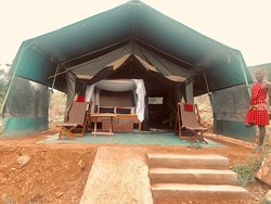 Luxury tented section of the camp
