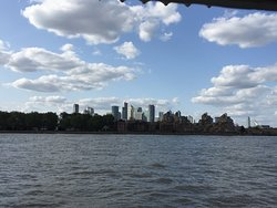 A view of the River Thames from the Trafalgar Tavern