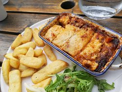 Lasagne with chips - children choice :)