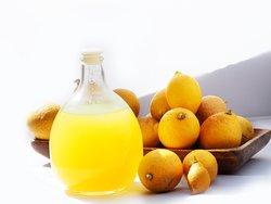 Home made limoncello with organic lemons!