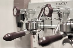 Our coffee machine, Elektra from Treviso, for a great coffee you need a great machine! and a bit of talent!
