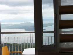 Day time view of Taal lake from our apartment