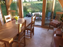 dining area and outside table...
