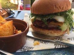 Breakfast Burger w/ Potatoes