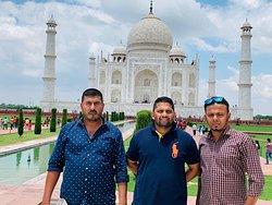 Visited Taj Mahal with Mr. Guddu's guidance.