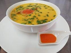 Sopa de Mariscos en leche de coco