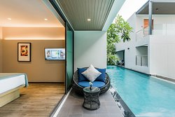 Direct access to swimming pool from balcony at Premier Pool Access room