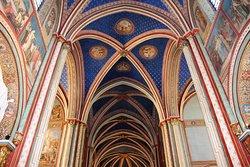 Eglise de Saint Germain des Prés , voute à la croisée du transept