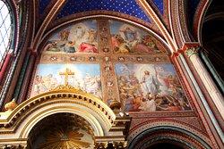 frescoes painted of the North transept Passion of Christ of 19 th century  Autel de Saint François Xavier , Fresques