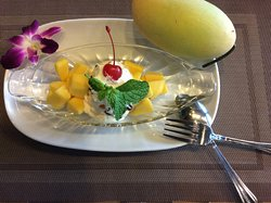 Mango Sticky Rice and Mango Shake make you feel good available every day in our place
