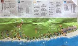 Map of resort.