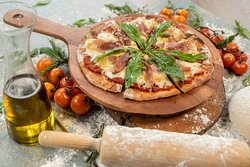 Homemade Pizza with original ingredients