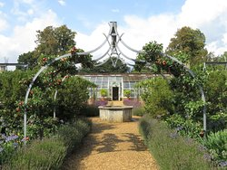 Osborne House Walled Garden and greenhouse